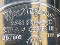 Westinghouse San Francisco Steam Coffee Urn