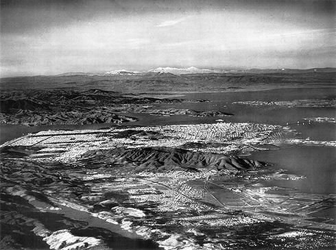 San Francisco Chronicle aerial photo 1949