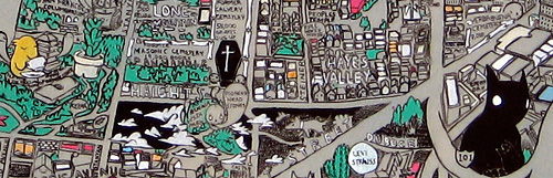 Deth P. Sun - San Francisco Secret Histories map detail