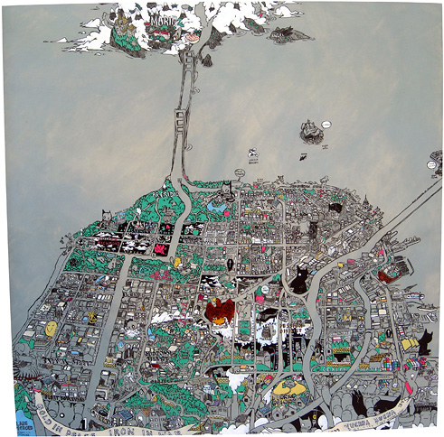 Deth P. Sun - San Francisco Secret Histories map